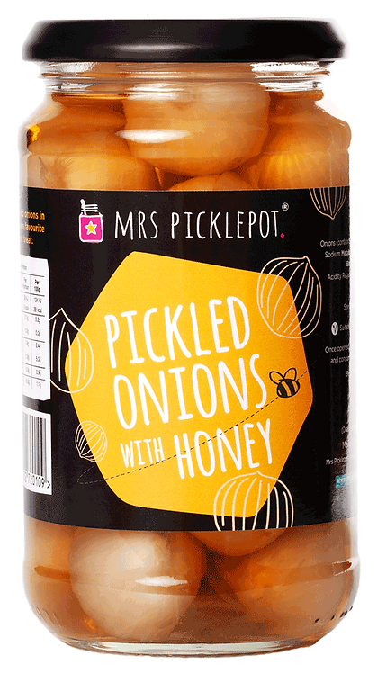 Mrs. Picklepot Pickled Onions with Honey