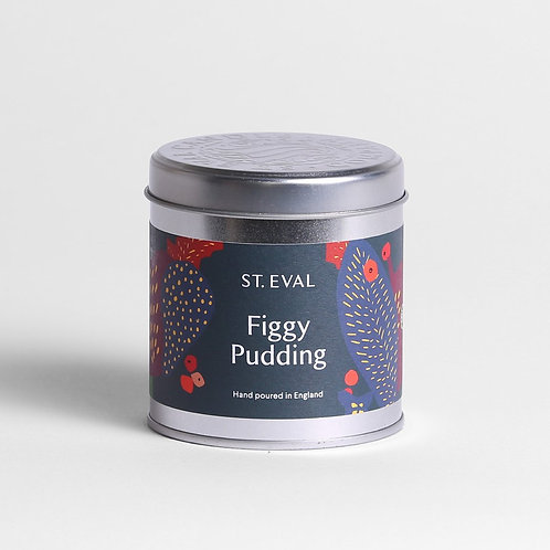 St. Eval Figgy Pudding Scented Christmas Tin Candle