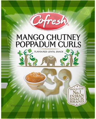 Cofresh Mango Chutney Poppadum Curls
