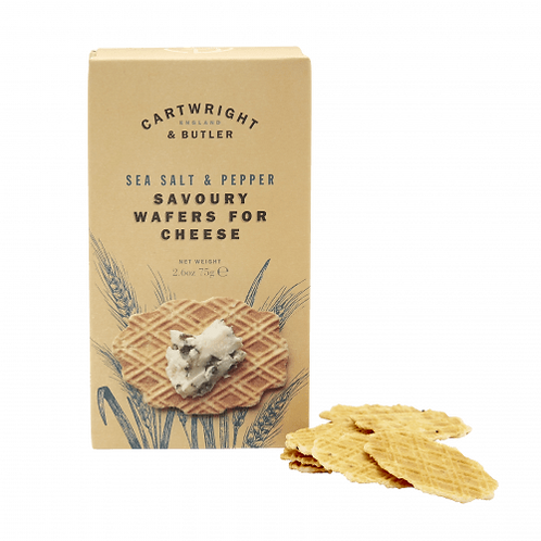 Cartwright & Butler Cheese Wafers with Sea Salt & Black Pepper