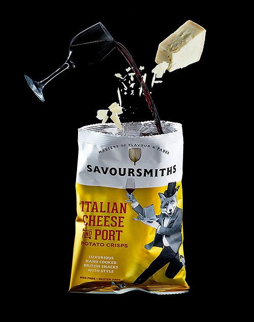 Savoursmiths Italian Cheese & Port Crisps