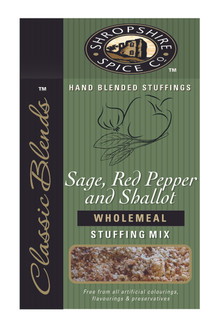 Shropshire Spice Co. Sage, Red Pepper & Shallot Wholemeal Stuffing