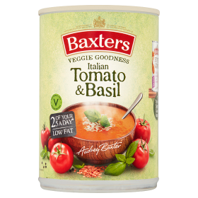 Baxters Vegetarian Italian Tomato & Basil Soup