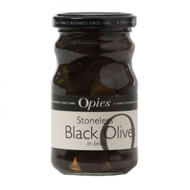 Opies Stoneless Ripe Black Olives