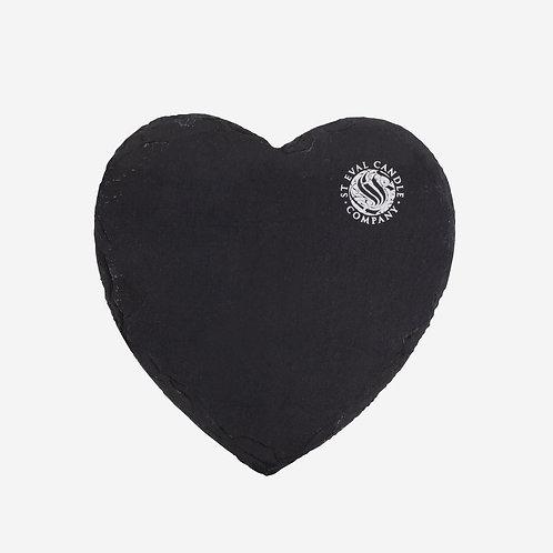 St. Eval Heart Slate Plate