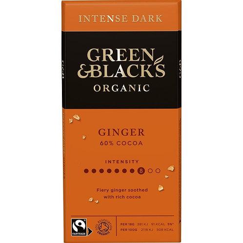 Green & Black's Organic Ginger Dark Chocolate Bar 90g