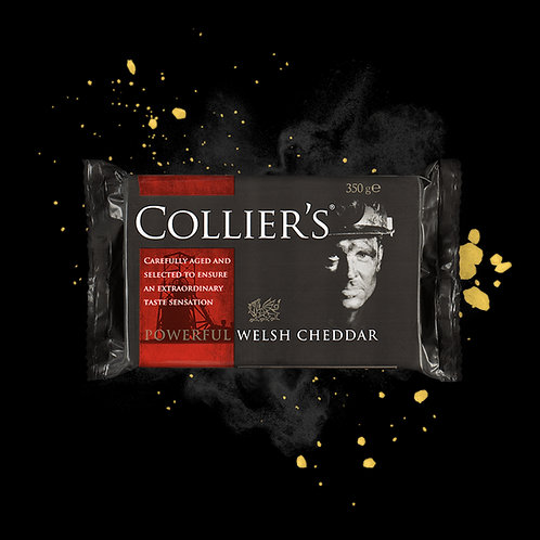 Collier's Powerful Welsh Cheddar Block 350g