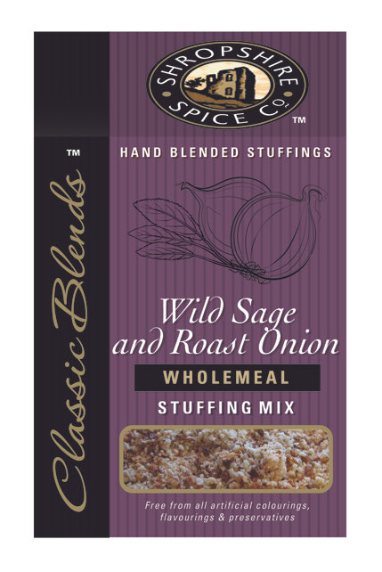 Shropshire Spice Co. Wild Sage & Roast Onion Wholemeal Stuffing