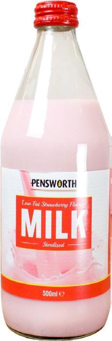 Strawberry Flavoured Milk (500ml)