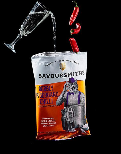 Savoursmiths Bubbly & Serrano Chilli Crisps
