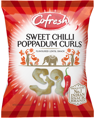 Cofresh Sweet Chilli Poppadum Curls