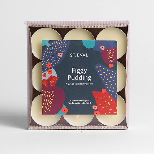 St. Eval Figgy Pudding Scented Christmas Tealights