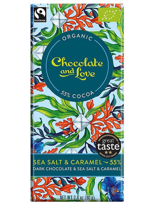 The Bay Tree Sea Salt & Caramel Chocolate Bar 80g