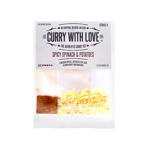 Curry with Love Spicy Spinach & Potatoes Mix