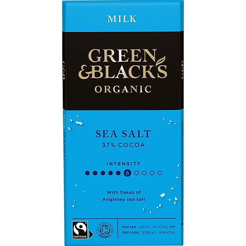Green & Black's Organic Sea Salt Milk Chocolate Bar 90g