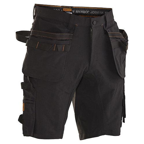 Kurze Hose mit Holstertaschen aus Stretch