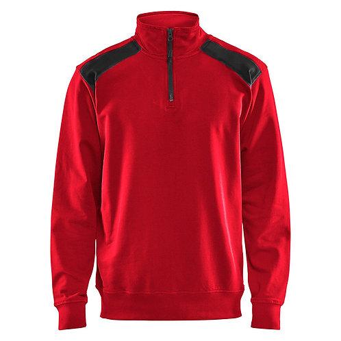 Sweater mit Half-Zip 2-Farbig
