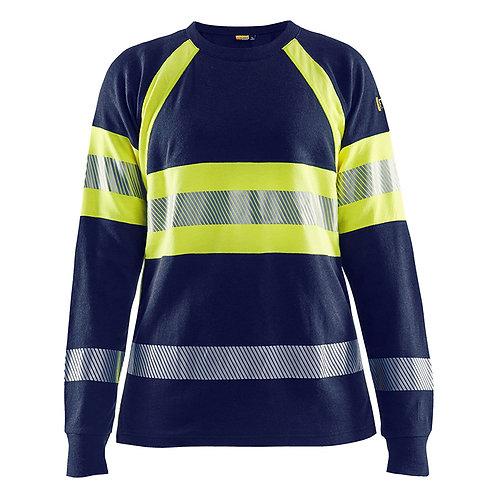 Damen Flammschutz Langarmshirt