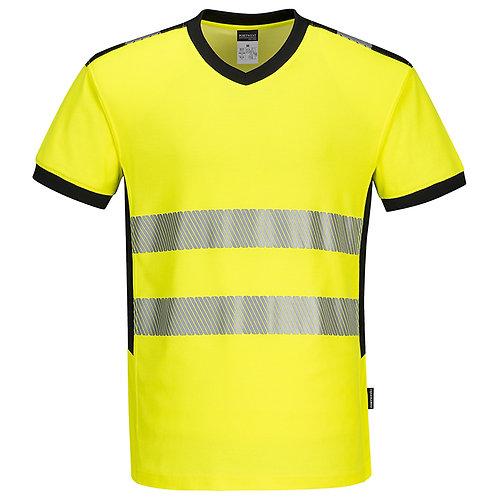 Warnschutz-Tshirt mit V-Ausschnitt