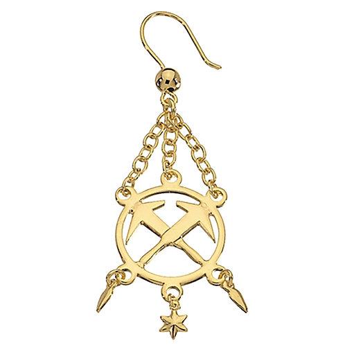 COLIN Ohrhänger Dachdecker, gold
