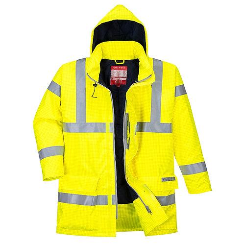 Wasserdichte Multisafe Warnschutz Jacke, antistatisch und flammhemmend