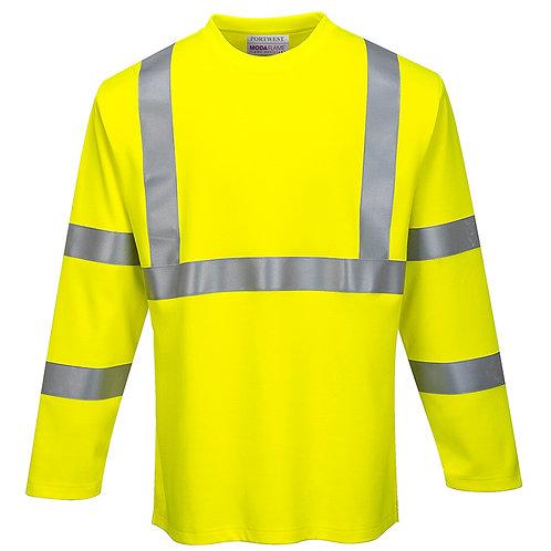 Flammhemmendes Langarm Warnschutz T-Shirt