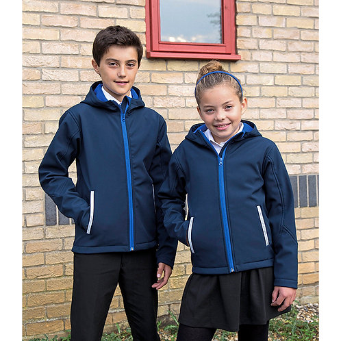 Kinder Youth Hooded Soft Shell Jacket