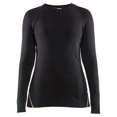 Damen Flammschutz  Thermo-Shirt,  78% Merinowolle