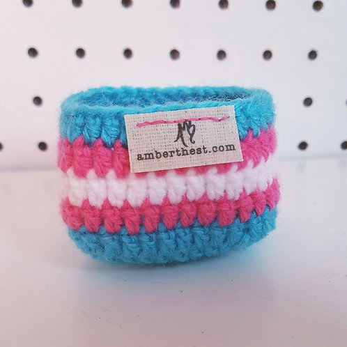 Tiny Trans Pride Basket