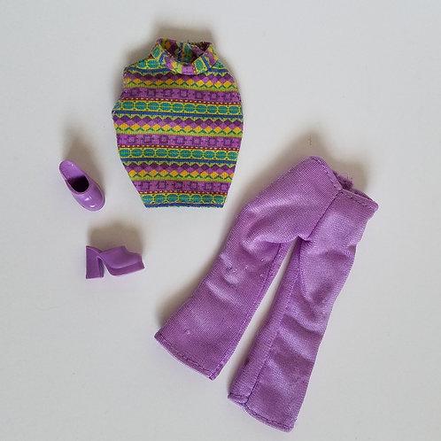 Barbie Purple Pants Outfit