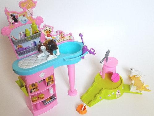 Barbie Kennel Care Playset 2001 Dog & Cat