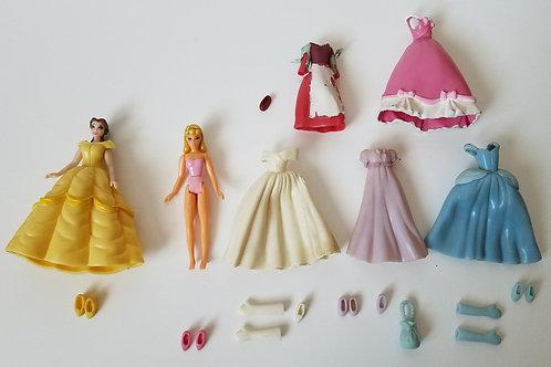 Cinderella and Belle Polly Pocket Set