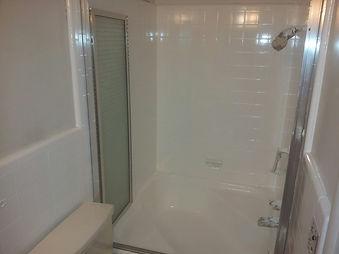 Refinished bathroom tile