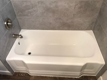 freshly refinished bathtub