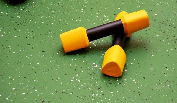 резиновый пол в спортзале