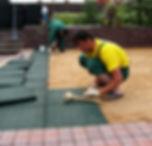 укладка резиновой плитки на песок