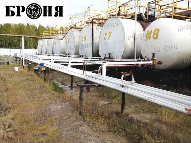 БРОНЯ Классик на емкостном оборудовании и трубопроводе нефтезавода ХМАО