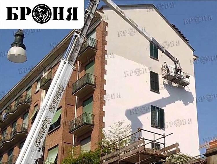 Турин, комплексное применение теплоизоляции жилого дома БРОНЯ Фасад