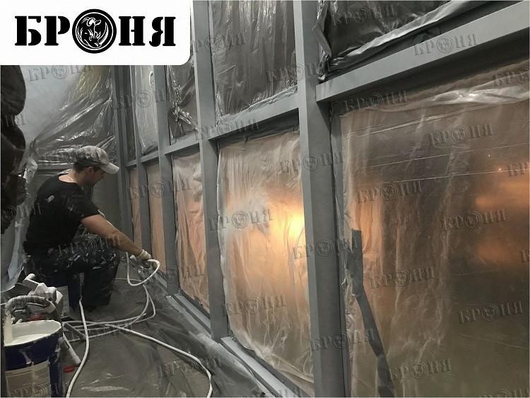 БРОНЯ Лайт утепление витражных рам и полов балконов