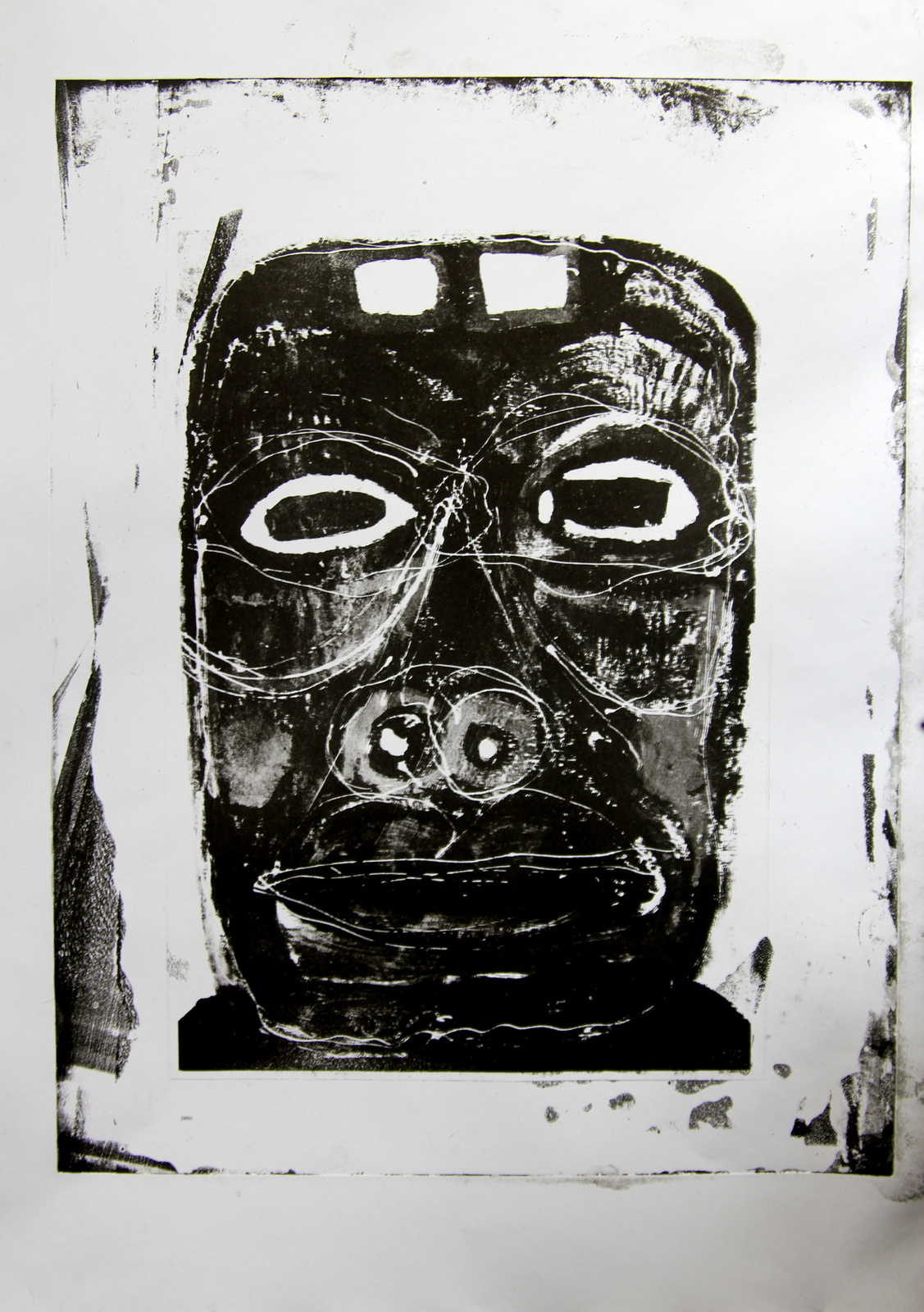 exhumation portrait 0,algrafia, 2017