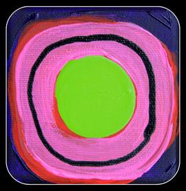 gluon różowo-zielony, zwykły