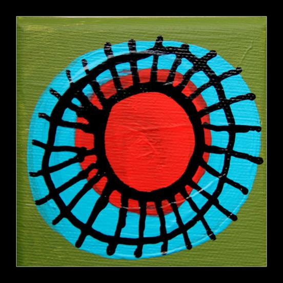gluon antyturkusowo-czerwony zwykły