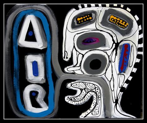 AIR MAN antysmogowy50x60 cm akryl olej