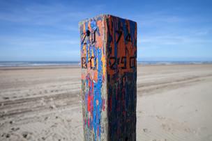 TMWRK strand kilometerpaal