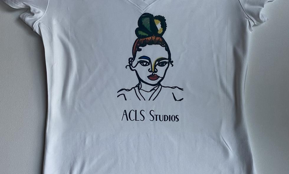 ACLS studios logo v-neck