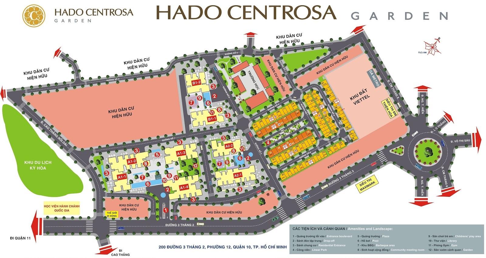 Mặt bằng tổng quan Hà Đô Centrosa