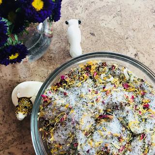 Homemade Bath Salt Blend