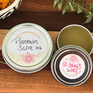 Fresh Herbal Oil Infusions & Salves