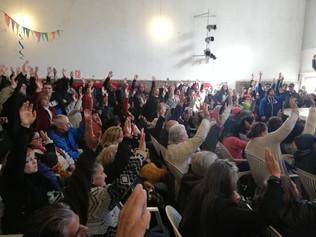 Con Fonoplatea desbordada, Unidad Popular realizó Convención Nacional y lanzamiento de campaña hacia