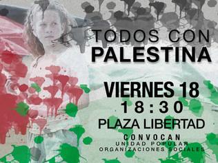 Repudiamos la nueva masacre del Estado de Israel contra el pueblo palestino